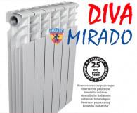 РАДИАТОР БИМЕТАЛЛ MIRADO DIVA (УКРАИНА) ГАРАНТИЯ 20ЛЕТ